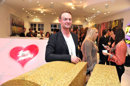 Private View of Elite Or Delete at Imitate Modern at Devonshire Street Marylebone the Artist Maximilian Wiedemann