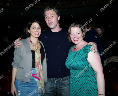 Reasons to Be Cheerful 1st Night at the Hackney Empire Hackney London Sadie Frost with Ian Dury's Son Baxter Dury and Daughter Jemima Dury