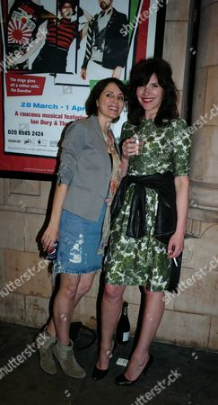 Reasons to Be Cheerful 1st Night at the Hackney Empire Hackney London Sadie Frost and Jessica Morris
