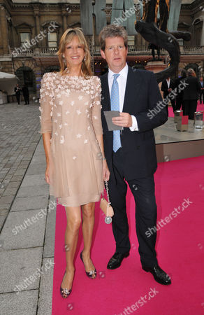 Royal Academy of Arts Hosts Its Annual Summer Exhibition Private View Piccadilly Guy Sangster with His Wife Fiona