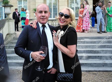 Royal Rickshaw Reception and Auction at Lancaster House Johan Eliasch with His Ex-wife Amanda Eliasch