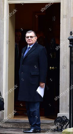 Scenes in Downing Street Westminster Gerald Ronson Arrives For A Meeting Between Prime Minister David Cameron and the Council of British Jews