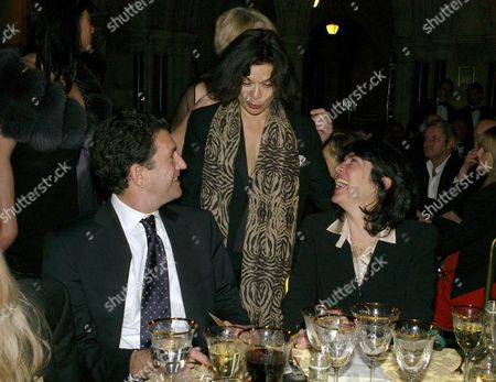 The 2nd Fortune Forum the Summit Gala Dinner at the Law Courts of Justice Strand London Bianca Jagger with Christiane Amanpour with Her Husband James Rubin