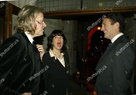 Second Fortune Forum the Summit Gala Dinner at the Law Courts the Strand Sir Bob Geldof with Christiane Amanpour with Her Husband James Rubin
