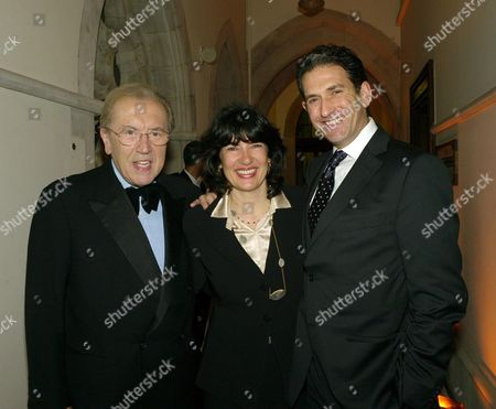 Second Fortune Forum the Summit Gala Dinner at the Law Courts the Strand Sir David Frost with Christiane Amanpour with Her Husband James Rubin