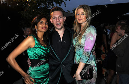 Serpentine Summer Party 2011 Co-hosted by Burberry at the Serpentine Gallery Kensington Gardens Divia Cadbury with Holly Valance and Nick Candy