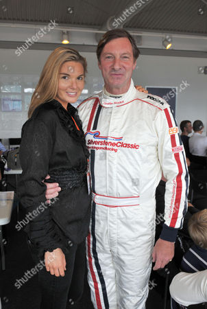 Silverstone Classic Racing Festival at Silverstone Circuit Towcester Northamptonshire Lord Charles Brocket with His Daughter Antalya Nall-cain