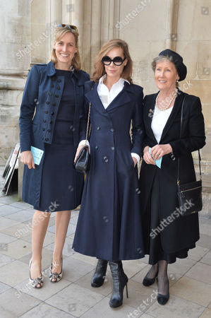 A Service to Celebrate the Life and Work of Sir David Frost at Westminster Abbey Patricia Palmer-tomkinson with Her Daughters Santa Montefiore and Tara Palmer-tomkinson