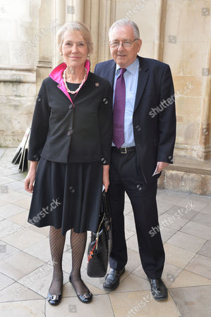 A Service to Celebrate the Life and Work of Sir David Frost at Westminster Abbey Peter Bottomley and His Wife Virginia Bottomley Baroness Bottomley of Nettlestone