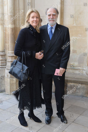 A Service to Celebrate the Life and Work of Sir David Frost at Westminster Abbey Lord Michael Cowdray with His Wife Marina