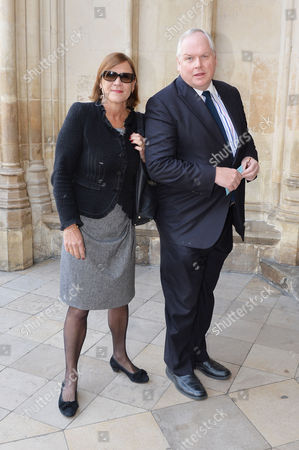 A Service to Celebrate the Life and Work of Sir David Frost at Westminster Abbey Anji Hunter and Adam Bolton