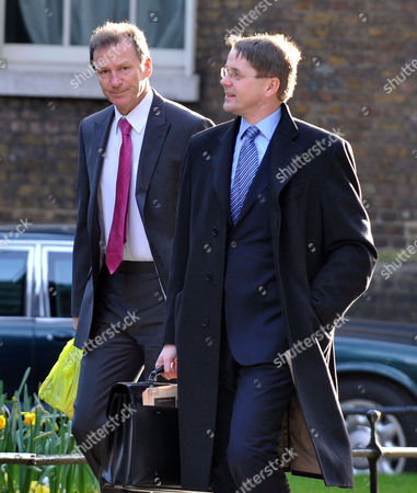 Cabinet Meeting at Number 10 Downing Street Westminster Cabinet Secretary Sir Gus O'donnell (r)