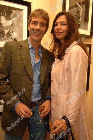 Pre-private View at the Chris Beetles Gallery Mayfair of Snowdon Jennifer Hall with Her Husband Glen Wilhide