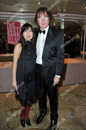 Southbank Sky Arts Awards at the Dorchester Hotel Park Lane Julian Lloyd Webber with His Wife Jiaxin Cheng