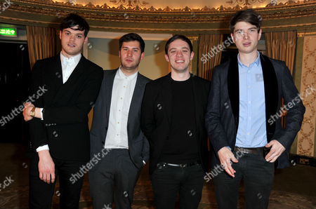 Southbank Sky Arts Awards at the Dorchester Hotel Park Lane Everything Everything - Jonathan Higgs Jeremy Pritchard Alex Robertshaw Michael Spearman