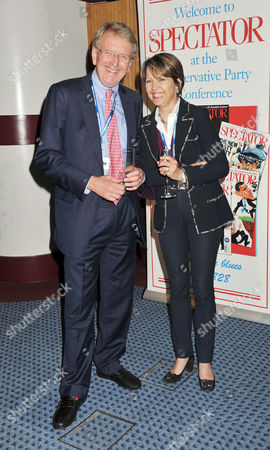 Spectator Magazine Drinks Reception During the Conservative Party Conference in Hall 9 at the Icc in Birmingham Sir Christopher Meyer with His Wife Lady Catherine Meyer