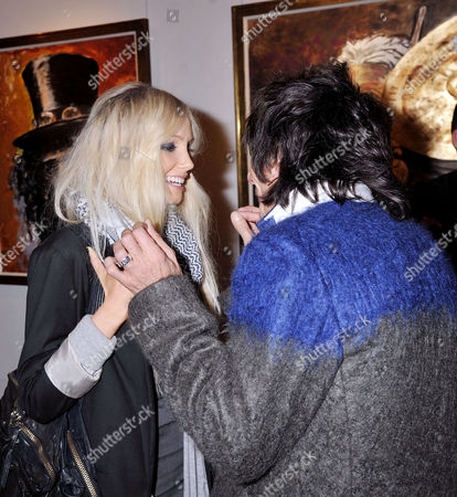 Editorial photo of Symbolic Collection Presents Ronnie Wood - Faces, Time and Places at the Gallery, Cork St - 08 Nov 2011