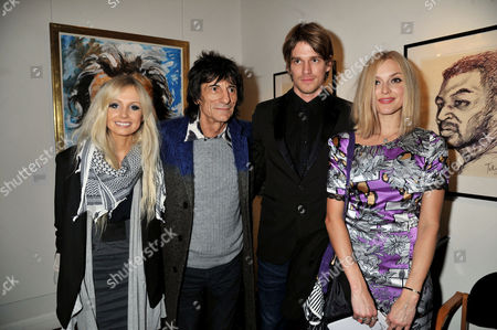 Editorial picture of Symbolic Collection Presents Ronnie Wood - Faces, Time and Places at the Gallery, Cork St - 08 Nov 2011