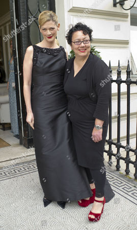 Tatler All Girls Lesbian Party at 27 Portland Place Sophie Ward with Her Partner Rena Brannan