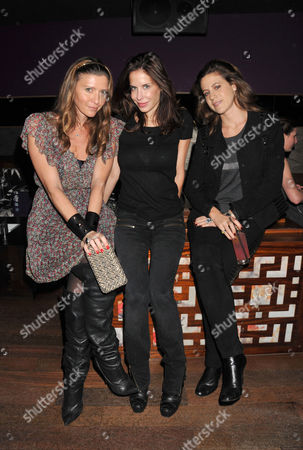 Stock Picture of Tatler Little Black Book Party at Chinawhite Winsley Street London Valentina Micchetti Anna Paula Pzevedo & Francesca Versace