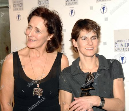 the 2007 Laurence Olivier Awards at the Grosvenor House Hotel Park Lane Fiona Shaw and Mel Kenyon