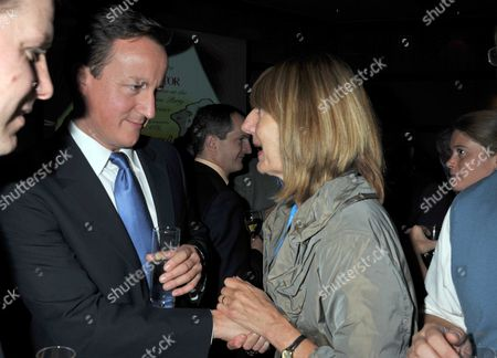 2010 Conservative Party Conference at Birmingham the Spectator Party Prime Minister David Cameron & Carole Stone *** Local Caption ***