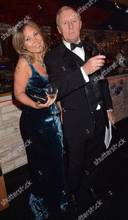 the British Curry Awards at Battersea Evolution Battersea Park London the Evenings Host Chris Tarrant and Partner Jane Bird