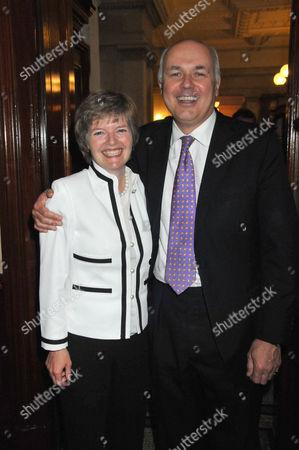 Stock Image of the Centre For Social Justice Awards 2010 at J P Morgan Asset Management Victoria Embankment Iain Duncan-smith with His Wife Betsy Duncan-smith
