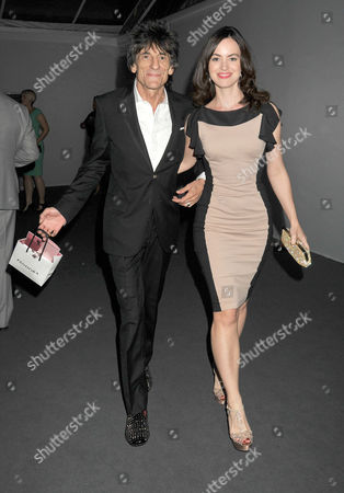 the Glamour Awards After Party Berkeley Square Gardens Ron Woods with Sally Humphries