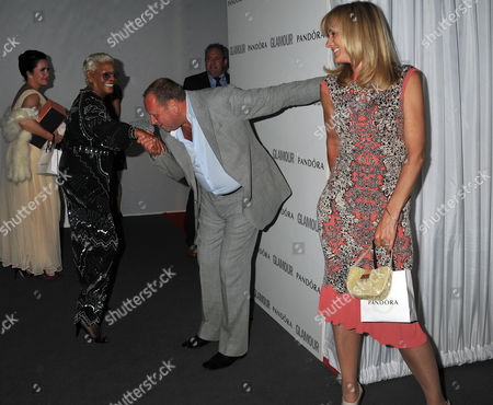 the Glamour Awards After Party Berkeley Square Gardens Dionne Warwick with Gary Farrow