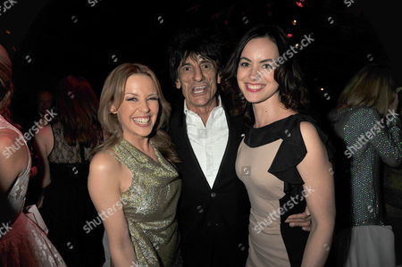 the Glamour Awards After Party Berkeley Square Gardens Kylie Minogue Ron Woods & Sally Humphries