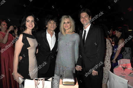 the Glamour Awards After Party Berkeley Square Gardens Ron Woods & Sally Humphries with Jesse Wood & Fearne Cotton