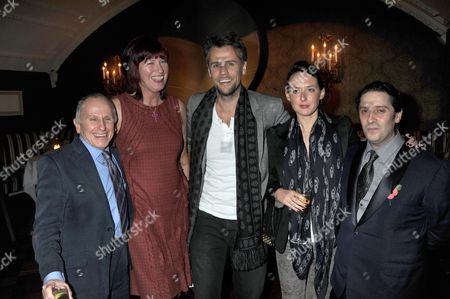 The Announcement of the Inaugural Winner of the Groucho Maverick Award Wayne Sleep Janet Street Porter Richard Bacon with His Wife Rebecca Mcfarlane and Bernie Katz