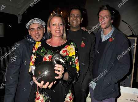 The Announcement of the Inaugural Winner of the Groucho Maverick Award the Winner Nell Gifford with the Other Nominees Javier De Frutos - Venezuelan Dancer and Choreographer Nell Gifford - British Circus Mastermind (the Winner) Simon Singh - Science Writer and Free Speech Campaigner Henry Hudson - British Visual Artist Simon Singh - Science Writer and Free Speech Campaigner