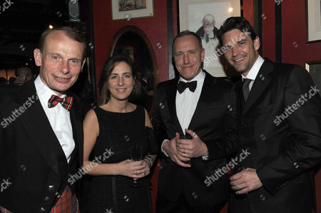Burn's Night 250th Anniversary at A Spectator Burns Night Dinner and Presention of the Johnnie Walker Blue Label Great Scot at Boisdale of Belgravia Ecclestone Street Andrew Marr Kirsty Wark Richard Jobson & Dougray Scott