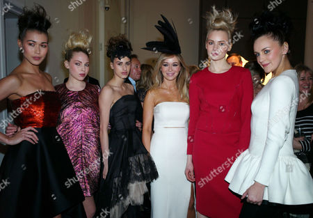 The Launch of Joanna Przetakiewicz's Autumn/winter 2012 Collection 'Fairy Tale Mania' For Polish Fashion House La Mania at Royal Academy of Arts Burlington Gardens Mayfair London Joanna Przetakiewicz & Models