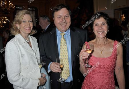The Launch Party For the Dick and Felix Francis Book Crossfire at Claridges Brook Street London Mrs Charles St George Felix Francis & Georgina Andrews