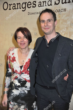 The London Gala Screening of Oranges and Sunshine at Bfi Southbank London the Director Jim Loach with the Writer Rona Munro