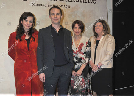 Stock Photo of The London Gala Screening of Oranges and Sunshine at Bfi Southbank London Emily Watson the Director Jim Loach the Writer Rona Munro and Margaret Humphreys
