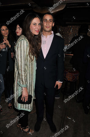 A Party Celebrating the Launch of the Muzungu Sisters Ethical Clothing Pop-up Shop at Momo Restaurant Heddon Street London Tatiana Santo Domingo with Alex Dellal