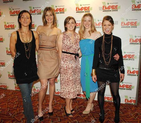 the Sony Ericsson Empire Awards 2006 at the Hilton London Metropole Best Horror Film the Descent Alex Reid Saskia Mulder Nora-jane Noone Shauna Macdonald and Myanna Buring