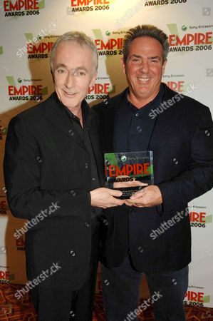 the Sony Ericsson Empire Awards 2006 at the Hilton London Metropole the Press Room Winner of Scene of the Year 'Star Wars Episode Lll: Revenge of the Sith' Anthony Daniels and Rick Mccallum