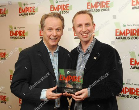 the Sony Ericsson Empire Awards 2006 at the Hilton London Metropole the Press Room Winners of Best Director Award For 'Wallace & Gromit: the Curse of the Were Rabbitt' Nick Park and Steve Box