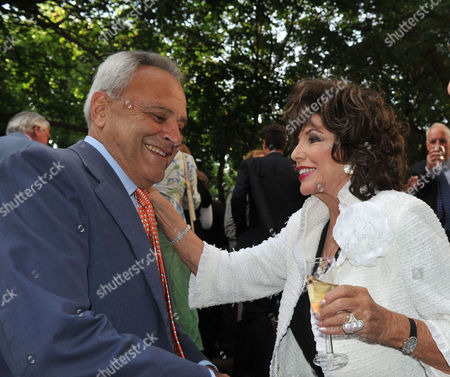 The Spectator Summer Party at Their Office in Old Queen Street Westminster Taki Theodoracopulos & Joan Collins