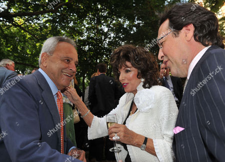 The Spectator Summer Party at Their Office in Old Queen Street Westminster Taki Theodoracopulos & Joan Collins Percy Gibson