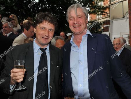 The Spectator Summer Party at Their Office in Old Queen Street Westminster Lord Johnson Somerset and His Brother Bunter Somerset the Marquess of Worcester