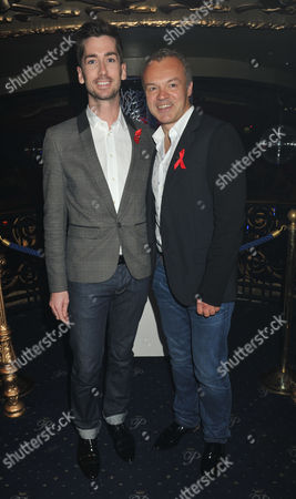 The Supper Club 2011 After Party in Aid of Terrence Higgins Trust at Cafe De Paris Coventry Street London Graham Norton & Trevor Patterson