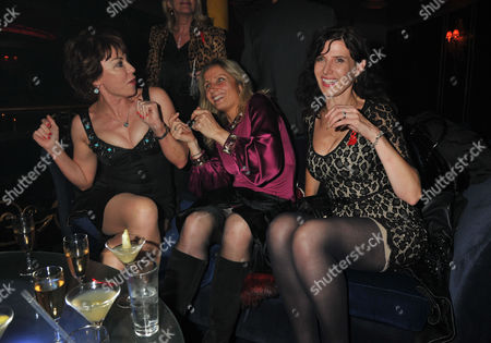 The Supper Club 2011 After Party in Aid of Terrence Higgins Trust at Cafe De Paris Coventry Street London Kathy Lette Tessa Campbell Fraser and Ronni Ancona