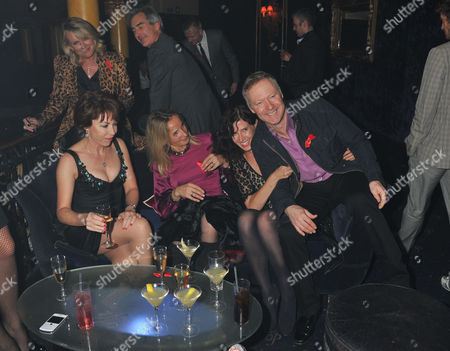 The Supper Club 2011 After Party in Aid of Terrence Higgins Trust at Cafe De Paris Coventry Street London Kathy Lette Tessa Campbell Fraser and Ronni Ancona with Rory Bremner