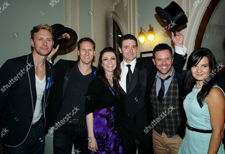 'Top Hat' Westend First Preview and Drinks Reception at the Aldwych Theatre in Aid of the Starlight Foundation Children's Charity Ian Waite Brendan Cole Emma Samms Tom Chambers Brendan Cole Darren Bennett Lilia Kopylova and Gethin Jones